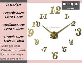 Reloj 3d elegante moderno