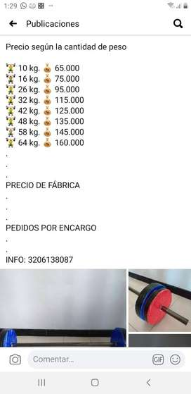 BARRA ARMABEL CON DISCOS DE CONCRETO