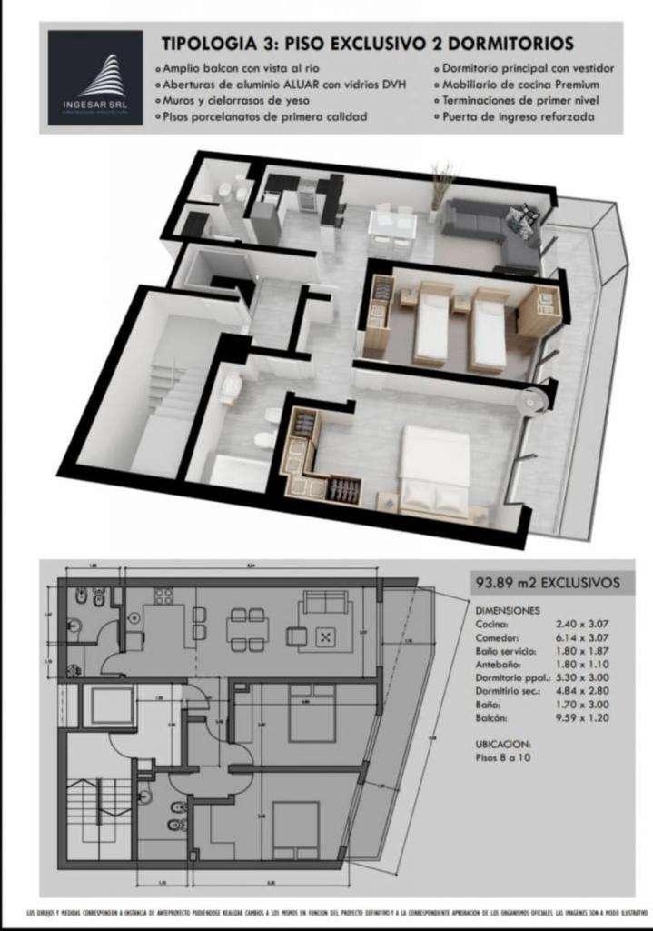 Departamentos de 2 dormitorio en Avellaneda 800 bis 0
