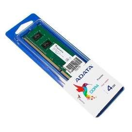 Memoria RAM 4GB DDR4 a 2400Mhz Marca adata PC escritorio (2 disponibles)