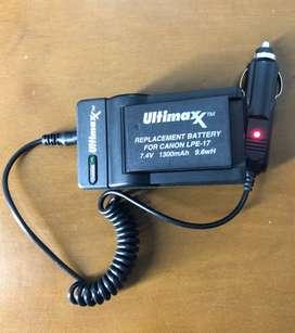 Cargador Carro y Pared + Bateria Lp-e17 Para Canon T6i T7i X8i 8000d