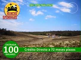 Venta de terrenos ecológicos para su casa de campo con $100 entrada y crédito directo/SD3