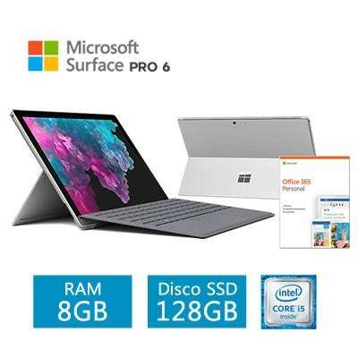 LAPTOP MICROSOFT SURFACE PRO 6 12.3 I58250U 8GB RAM 128GB SSD TECLADO/COVER OFFICE 0
