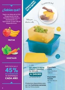 Set para Refrigerador Refri Tupperware