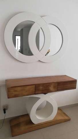 Mesa recibidor + espejo