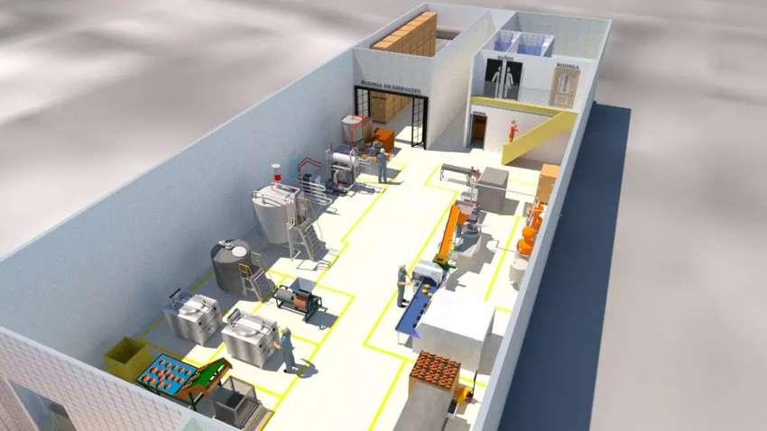 Planos 3D, imágenes Renders y vídeos interactivos de oficinas y plantas de producción. 0