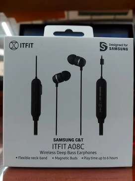 Audífonos Inalámbricos Samsung C&T Itfit A08c - Originales -Color negro Wireless deep bass