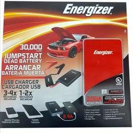 Arrancador iniciador batería auto energizer carga usb