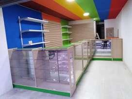 vitrinas para droguerias, tiendas de regalos entre otros