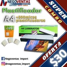 PLASTIFICADOR A4 MAS 300 MICAS PLASTIFICADORAS