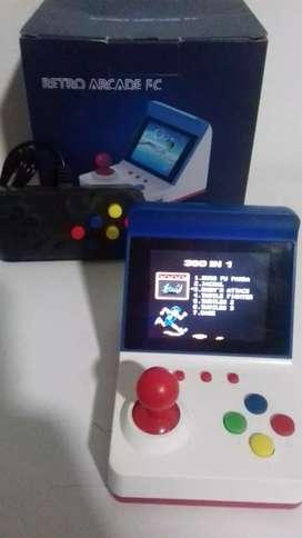 Mini consola con palanca  360 juegos