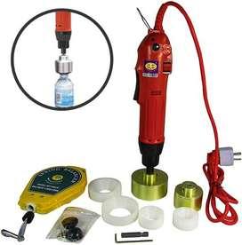 Tapadora de botellas, frascos, envases pet eléctrica 110V