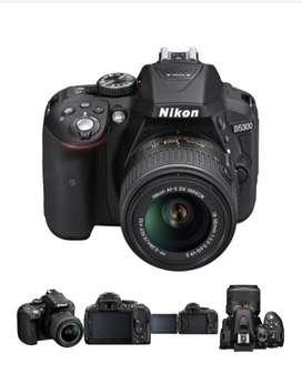 camara nikon d5300 + lente 18-55m + 3 baterias + estuche