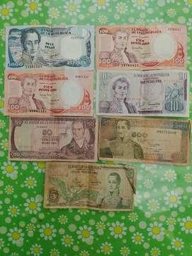 Billetes para coleccion