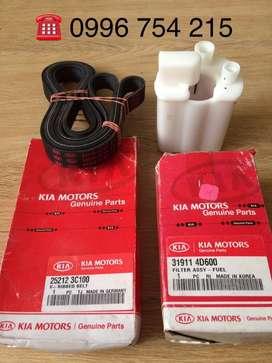 Repuesto Kia 3.8 litros v6 banda y filtro gasolina Envio a nivel Nacional