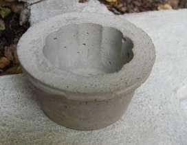 Maceta para souvenir cemento cactus crasas