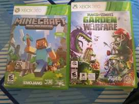 Plantas Vs Zombies Y Minecraft Xbox 360