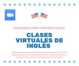 Profesor de inglés. Clases virtuales. Zoom o Google Meet.