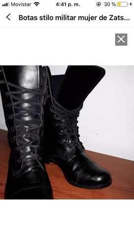 Botas negras stilo militar