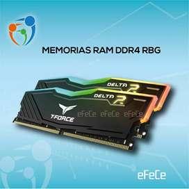 Memorias Ram ddr4 16Gb T-Force RGB