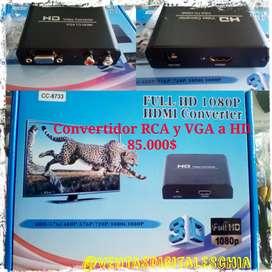 Convertidor de video VGA y RCA a HD