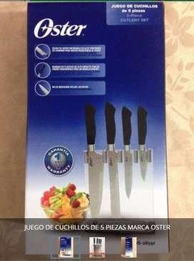 Juego de cuchillo 5 Piezas Marca Oster Nuevos