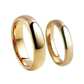 Aros de Matrimonio Oro 18k Y Plata 925 Boda Anillos Aniversario Ps4 Amor Joyas Tv S6