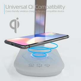 lampara cargadora inalambrica  wireless charging lamp