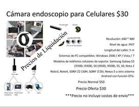 Cámara endoscopio para Smartphone con función OTG, waterproof, Compatible con Android OS Windows