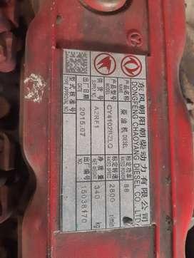 motor diesel dongfeng modelo cy4102bzlq con caja 5 velocidades y retro