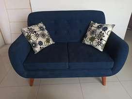 Muebles de sala vintage 3-2-2 sillones