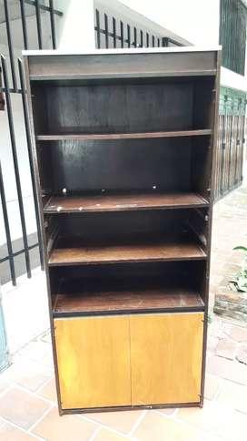 mueble con estantes y puertas