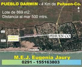 Venta terreno en  Pehuen Co.