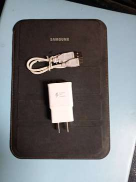 Cargador tablet samsung original carga rapida y funda protectora