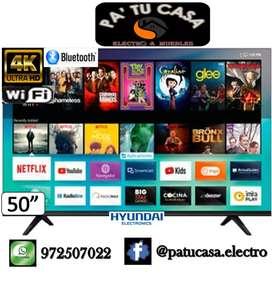 """Smart TV Hyundai de 50"""" 4K Ultra HD con wifi y bluetooth"""