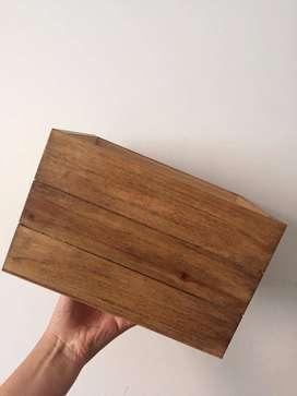Cajas de madera NUEVAS medidas: 14x22x17