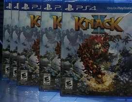 KNACK 2 PS4 NUEVO SELLADO STOCK