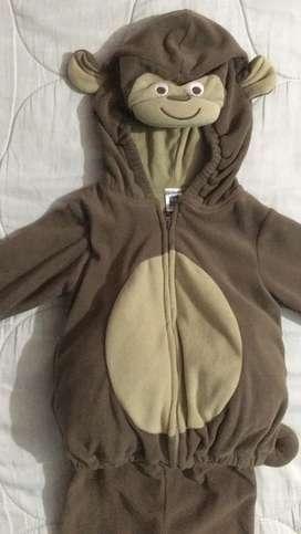 Disfraz de mico 12 a 24 meses