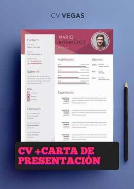 Confeccion y armado de Cv+Carta de presentación+Carga a portales de empleo