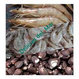 Ventas al por mayor y menor de langostinos, Camarones y conchas