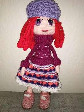 Muñeca Tejida Crochet Regalo