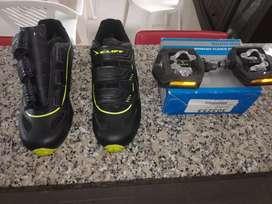 Vendo Juego de zapatillas y pedales para MTB