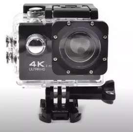 Camara deportiva 4k sumergible impermeable resistente al agua cam sports action camera para casco