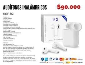Audífonos inalámbricos i12