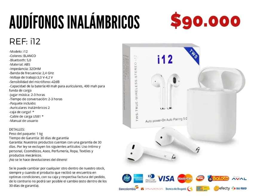 Audífonos inalámbricos i12 0