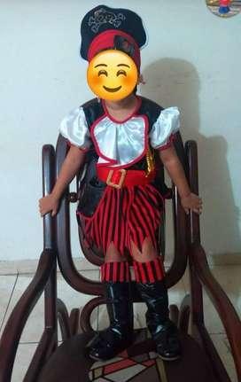 Disfraz de pirata fantastic night talla 4