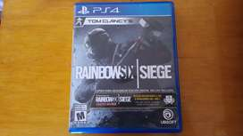 Tom Clancy's Rainbow Six PS4 Como nuevo