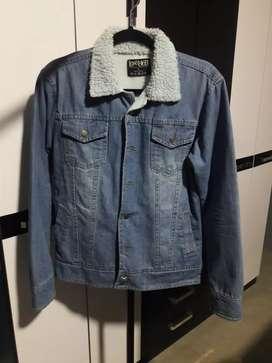 Casaca jean con peluche