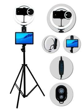 $79.900 Aro de luz 26+ trípode+soporte celular y tableta+Aro celular+bluetooth
