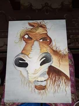 Pintura exótica de caballo
